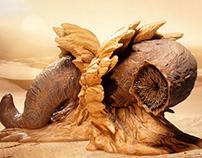 Dune Sandworm Bookends for Dark Horse