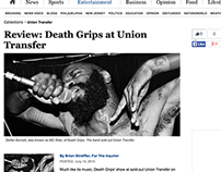 Death Grips show review for The Philadelphia Inquirer.