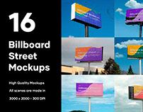 16 Billboard Street Mockups - PSD