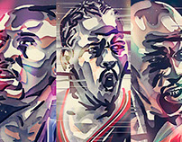 NBA Portrait Illustrations