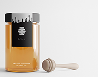 Bhive honey branding and packaging
