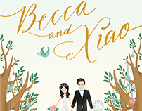 Becca and Xiao Wedding Invite