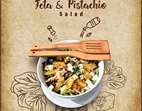 Feta & Pistachio Salad Browns Cafe Islamabad