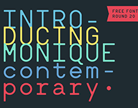 Monique Contemporary (Free font)