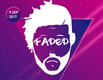 Faded - flyer and presale