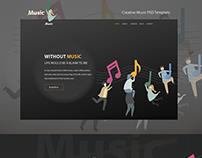 Creative Music PSD Template