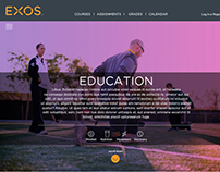Website Design: EXOS Education
