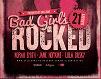 BAD GIRLS - Underground, grunge flyer design