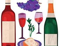 Wine Map Illustrations