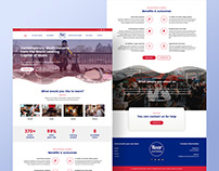 London based Music Academy Home Page Design