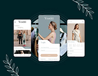 Wireframes and design app for the sale of apparel.