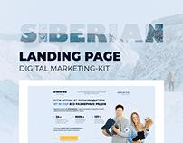 "UGG landing page and digital marketing-kit ""SIBERIAN"""