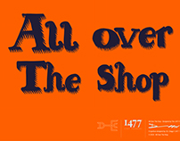 All Over The Shop. Typeface design.