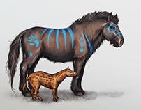 Eohippus and Pliohippus