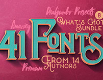 What's Hot Bundle vol.8 – 41 New Fonts