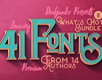 What's Hot Bundle vol.8 – 41 New Fonts