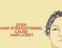 Does hair straightening cause hair loss?