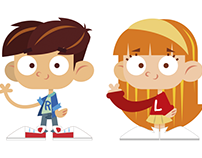 Character design for children's hairdressing
