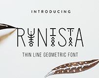 Runista - Thin Line Geometric Font