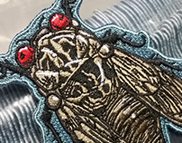 Cicada Embroidered Patch