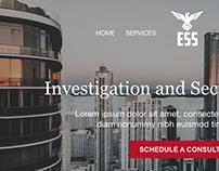 Elite Security Solutions - Website Mockup