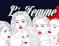 L' Femme Digital Illustration
