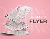 perfume application flyer