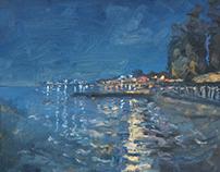 """Nocturnal idyll"" oils  canvas  60x70"