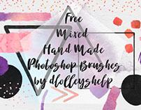 FREE HAND MADE MIXED PHOTOSHOP BRUSHES