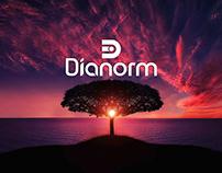 Dianorm Flat logo design
