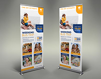 Bus Trip Signage Banner Roll Up Template