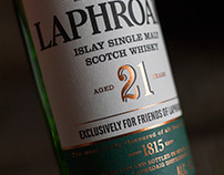 Laphroaig 21-Year Scotch Whisky Package Design