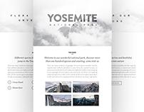 Yosemite National Park Website Concept