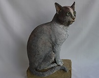 '' LE CHAT '' ,SOLID RECYCLED CARDBOARD PAPER