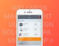 Fitness and SPA management App | Mobile UI/UX design
