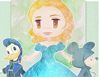 Kingdom Hearts Mickey, Donald and Cinderella
