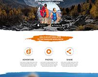 Web Template - Landing Page Design Photoshop