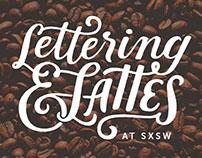 Lettering & Lattes Handlettered Logo