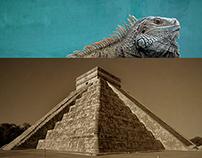 Homemade Postcards of Mayan Pyramids
