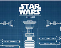 Star Wars - Lightsabers Blueprint_Poster design