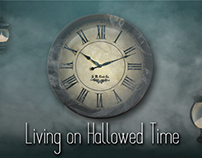 """Living On Hallowed Time"" Banners"