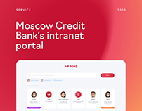 Moscow Credit Bank's intranet portal