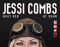 Stand up billboard design Jessi Combs at for SEMA