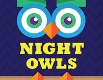 Poster Design – Priddy Library Night Owls