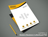 Modern Business Letterhead PSD