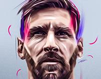 G.O.A.T Lionel Messi Artwork