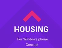 Housing.com-App concept for Windows  phone