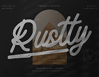RUSTTY MONOLINE STAMP TYPEFACE - FREE FONT