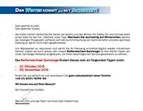 LAYOUT: Mailing Reifenwechseln