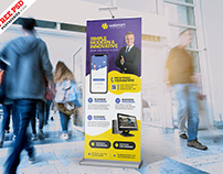 New Corporate Business Roll-Up Banner PSD